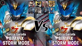 BIMA-X Storm Mode Single Mode - Satria Heroes (LIVE) Storm Mode vs Storm Mode