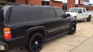 2000 Chevy Suburban on 24s installed at RimTyme Durham! Thumbnail
