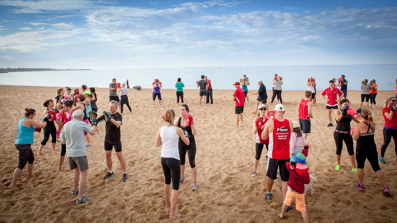 Vision Personal Training Brighton Boxing Class At Brighton Beach Youtube