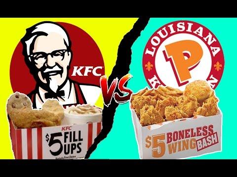 Food Fights- KFC vs POPEYES 🍗 $5 Fill Ups & $5 Boneless Wing Bash 🍗