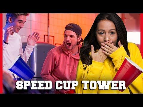 SOPHIE SPEELT VALS BIJ SPEED CUP TOWER CHALLENGE | Sophie, Quinty, Gio, Kaj | Challenges Cup #5