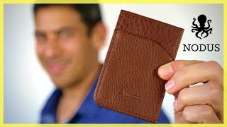 Nodus Compact Card Wallet | Minimalist Travel Wallet for Your Essentia