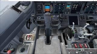 FSX, American Virtual AA2422 B738 Approach to Cancun Airport [Vatsim]
