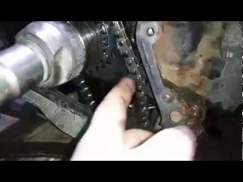 Провисшая цепь привода масляного насоса двигателя М9R пробег 165 т.к.