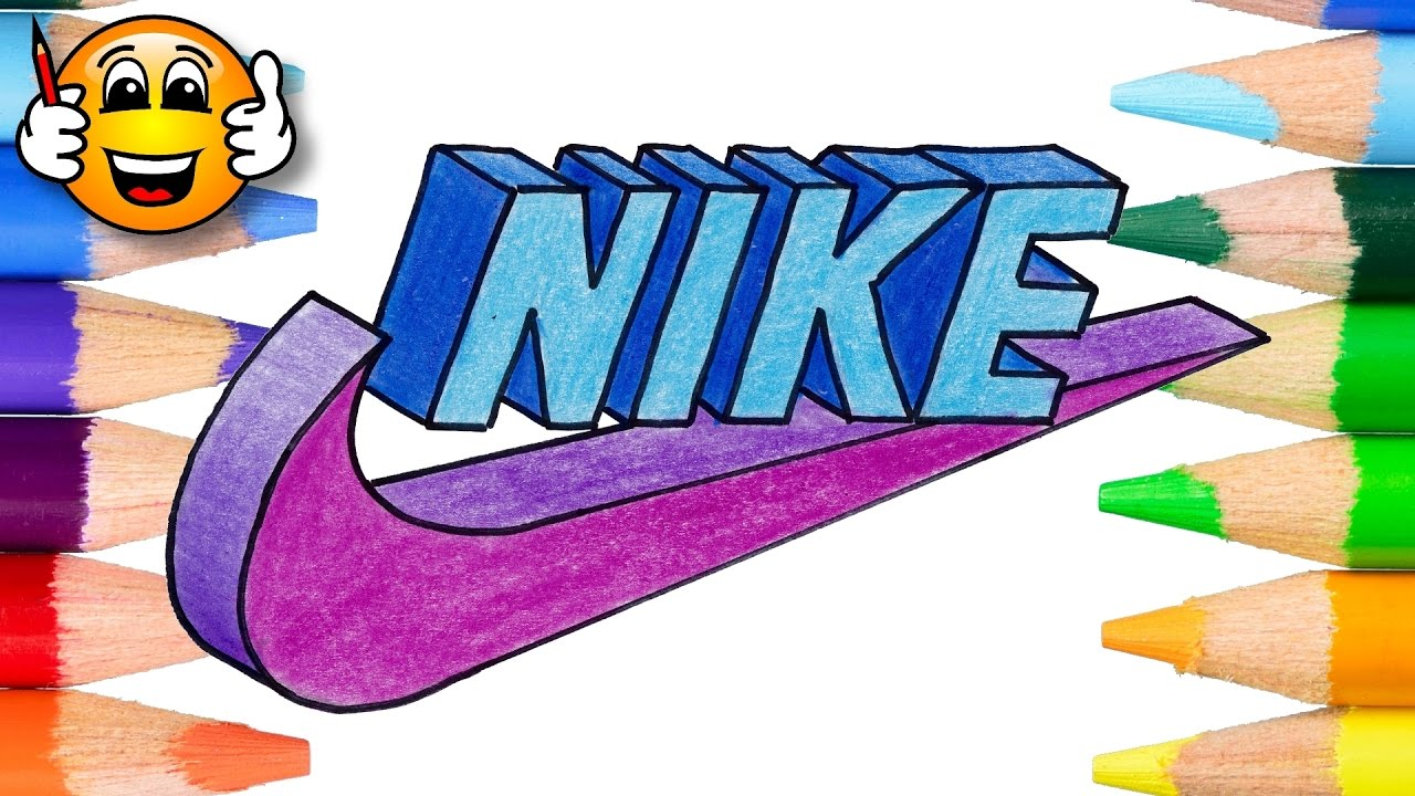 Coloring Pages For Kids Nike Logo In 3d Coloring Book Videos