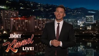 connectYoutube - Channing Tatum's Guest Host Monologue on Jimmy Kimmel Live