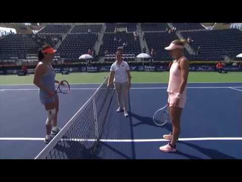 Dubai Tennis 2018 - WTA Highlights R1 Vesnina d Peng