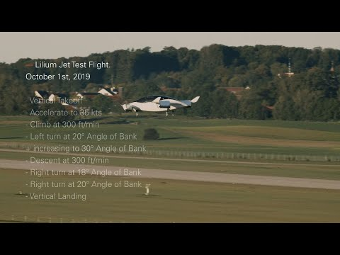 Lilium shows its electric air taxi pulling off some banked turns
