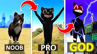 How To UPGRADE CARTOON CAT Into A GOD In GTA 5 ... (Secret Powers!) - GTA 5 Mods Funny Gameplay