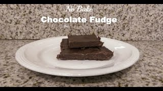 No Cook Healthy Fudge