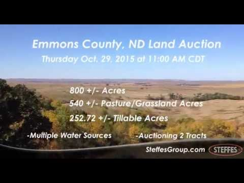 Emmons County, ND Land Auction October 29, 2015 at 11 AM CDT