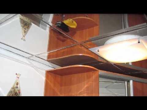 Зеркальные пластиковые панели в интерьере