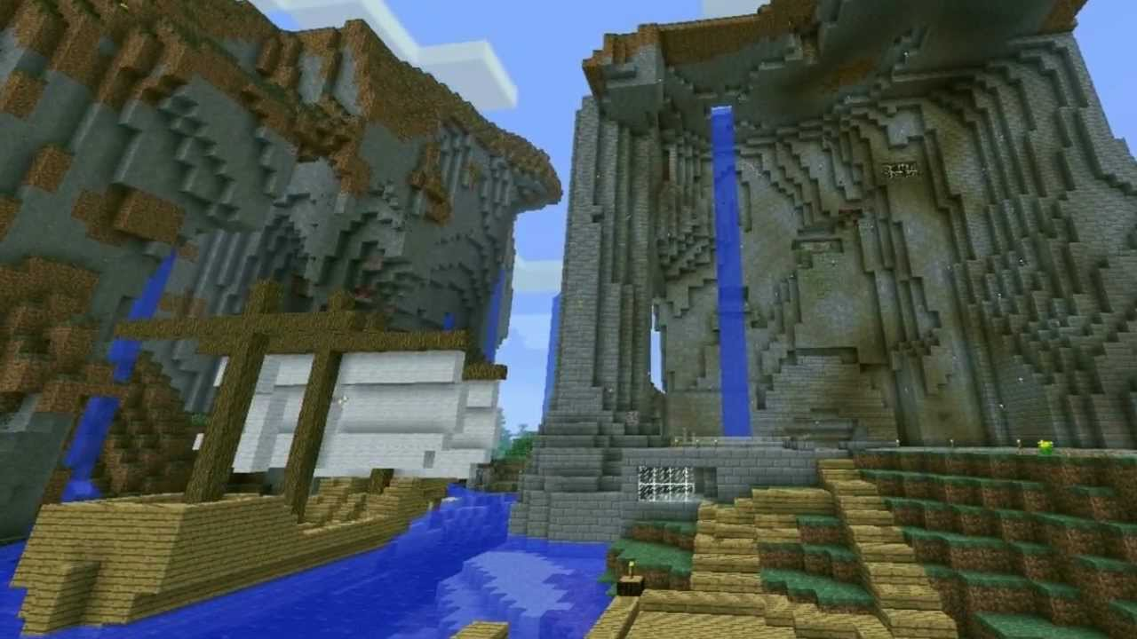 Minecraft timelapse mountain castle youtube for How to build a house in a mountain