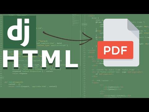 Django Render HTML To PDF | Introduction