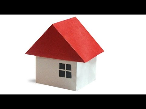 Origami house 3d youtube Step by step to build a house