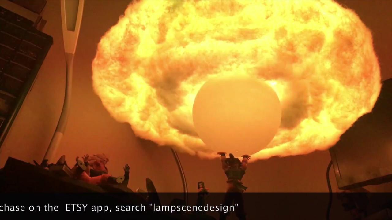 Dragon Ball Z DBZ Goku Spirit Bomb Cloud Hanging Lamp