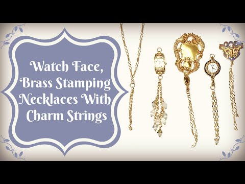Watch Face, Brass Stamping Necklaces With Charm Strings