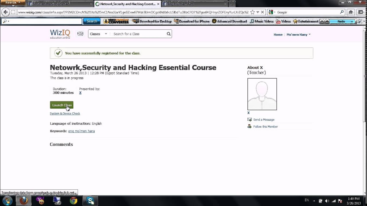 intro to online attendance network security and hacking free course