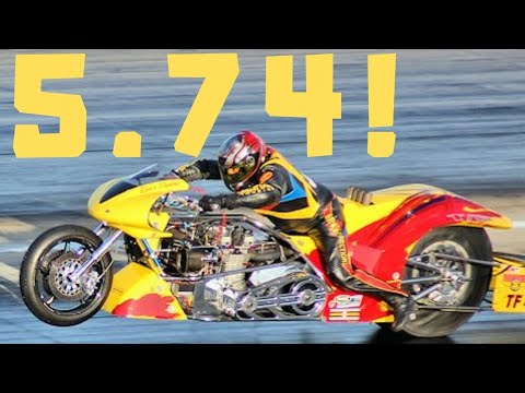 "FULL EVENT! TOP FUEL NITRO MOTORCYCLE RACE! 5.74 At 254 MPH BEST EVER RUN! LARRY ""SPIDERMAN"" MCBRIDE"