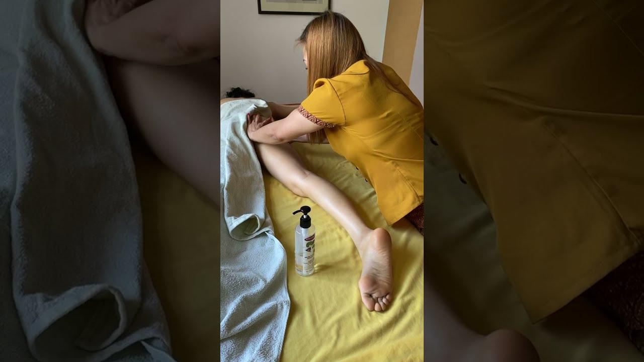Thai massage technique oil girl full body ASMR - YouTube