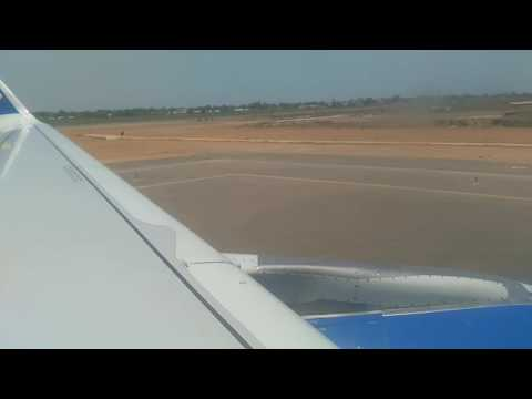 Thomas cook Land at Banjul international airport gambia