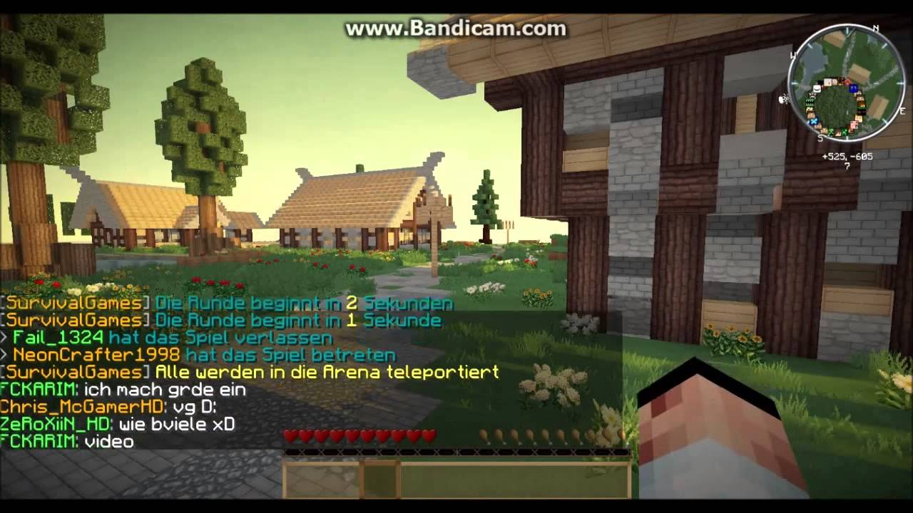 Lets Play Minecraft Hunger Games Survival Games Deutsch - Minecraft hunger games auf deutsch