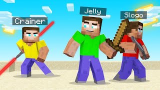 Fighting My FRIENDS With A LIGHTSABER In MINECRAFT!
