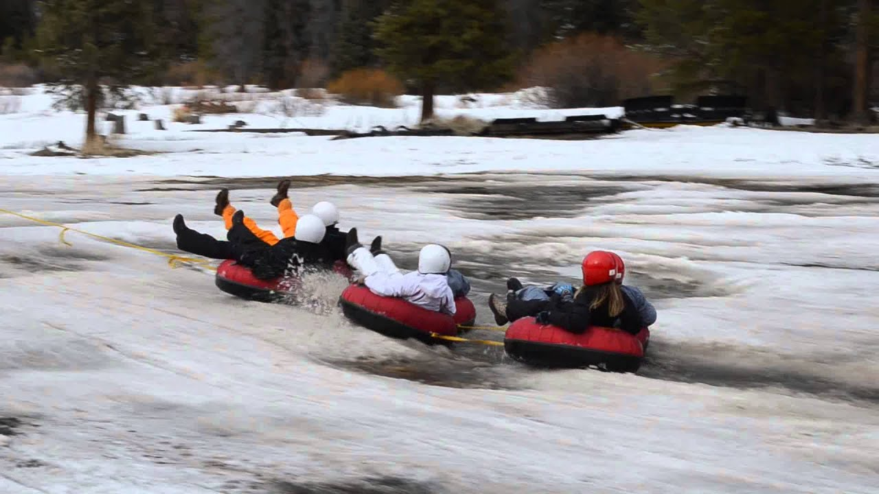 cc19ac843aff0 Wet Tubing in the snow at Winter Park Wipeout, CO - YouTube