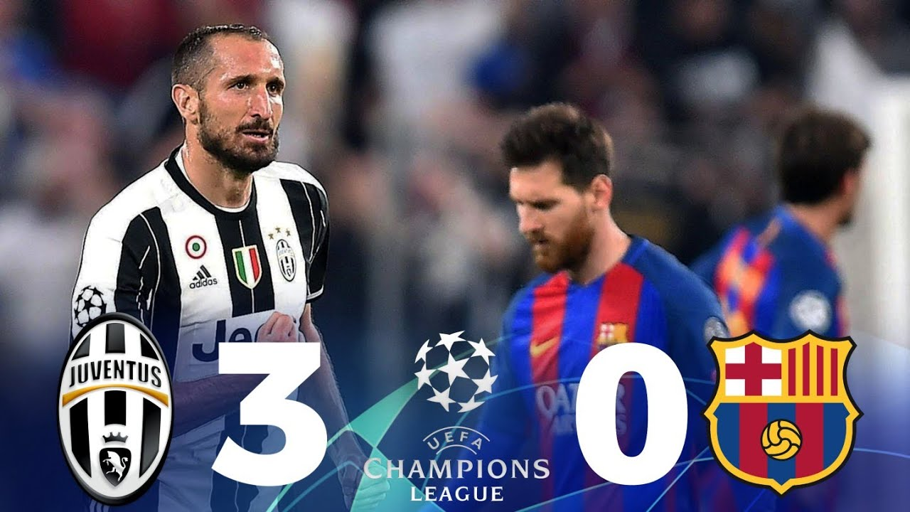 Juventus Vs Barcelona 3 0 Full Highlight Saat Messi Tak Berdaya Di Hadapan Juve Youtube