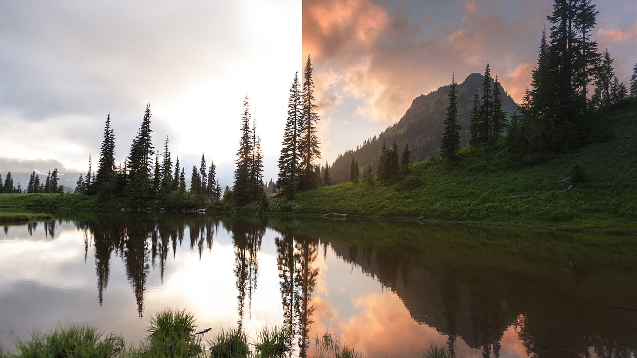 how to cleanly blend 3 exposures in photoshop  landscape workflow