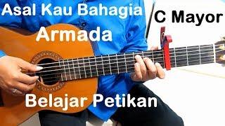 (C Mayor) Petikan Asal Kau Bahagia Armada - Belajar Gitar Petikan Untuk Pemula