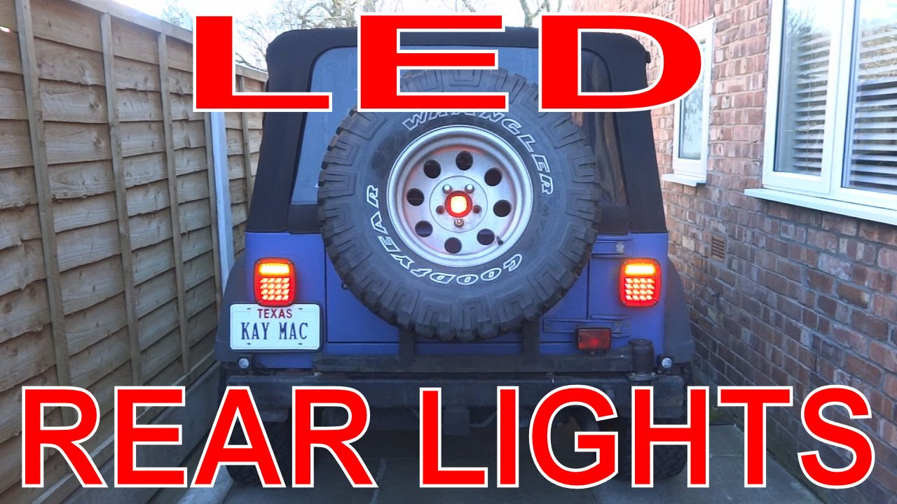 Led Lights Install Led Tail Lights On Jeep Tj Wrangler
