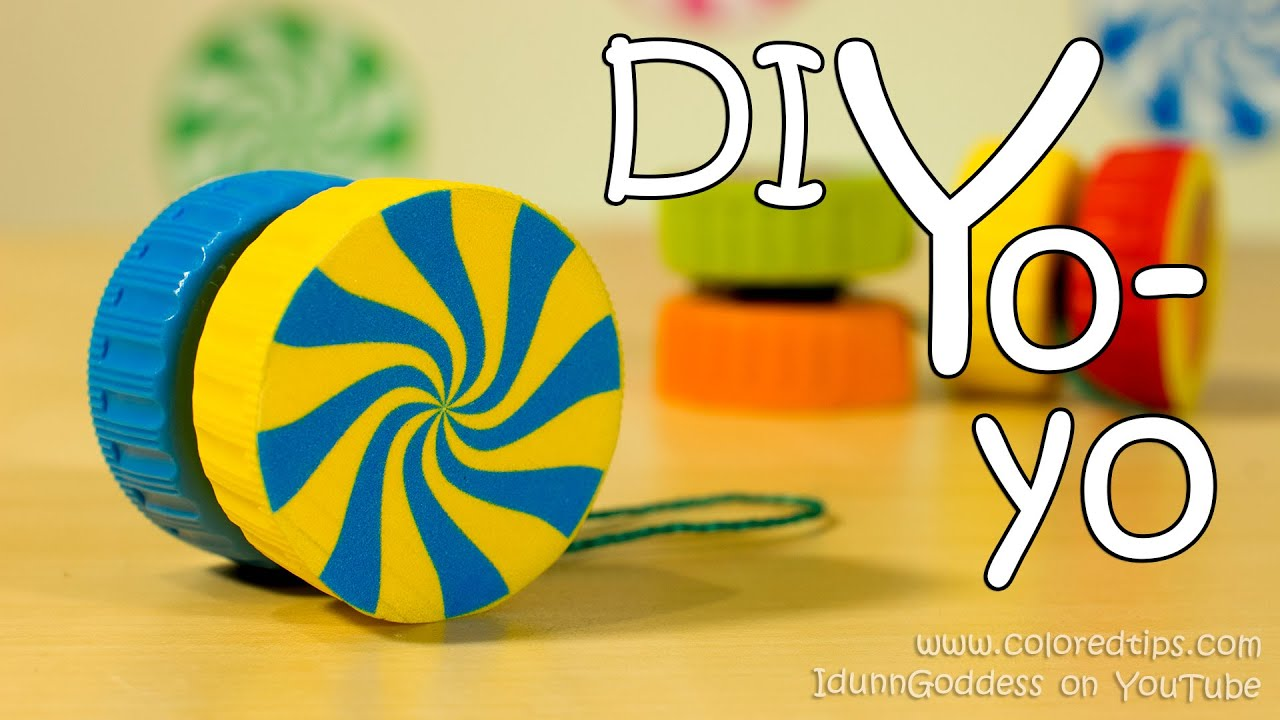 how to make a yo yo easy way of diy yoyo made out of 2 plastic