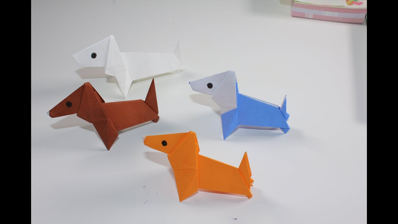 Origami Animal Dog Youtube
