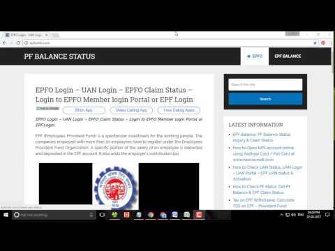 EPFO login in india - Step by step Guide