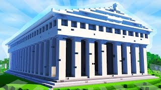 How To Build the PARTHENON in Minecraft (CREATIVE BUILDING)