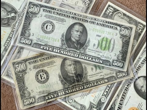 $500 Bills (US Paper Currency)