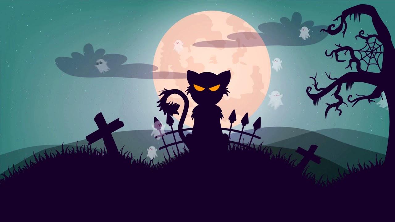 Halloween Black Cat Animated Screensaver Youtube