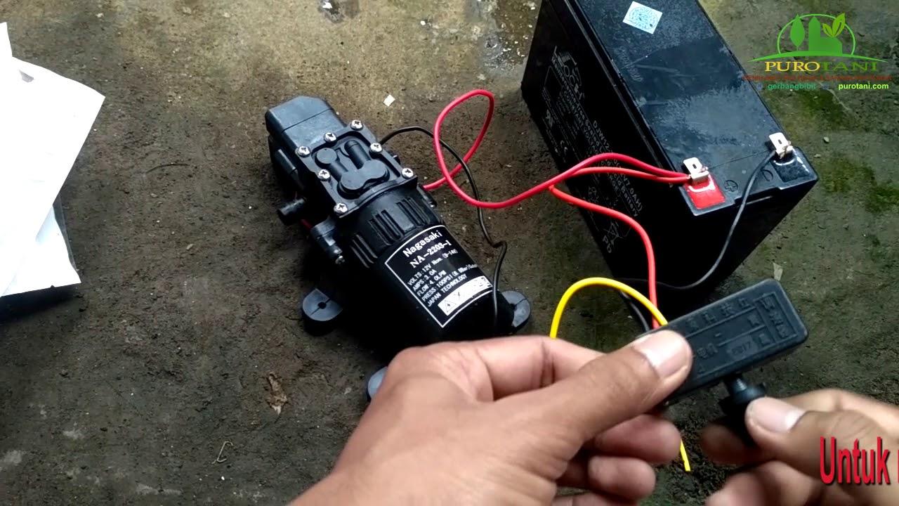 Cara Pasang Potensio Dinamo Dc 12 Volt Sprayer Pompa Air Minum Cuci