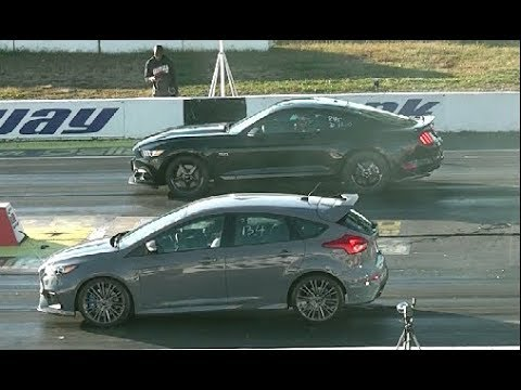 New Ford Focus Rs Drag Racing 1 4 Mile Vs 5 0 Mustang