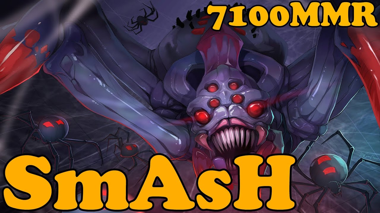 dota 2 smash 7100 mmr plays broodmother ranked match gameplay