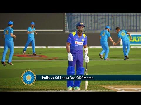 India vs Sri Lanka - 3rd ODI Match - Don Bradman Cricket 17