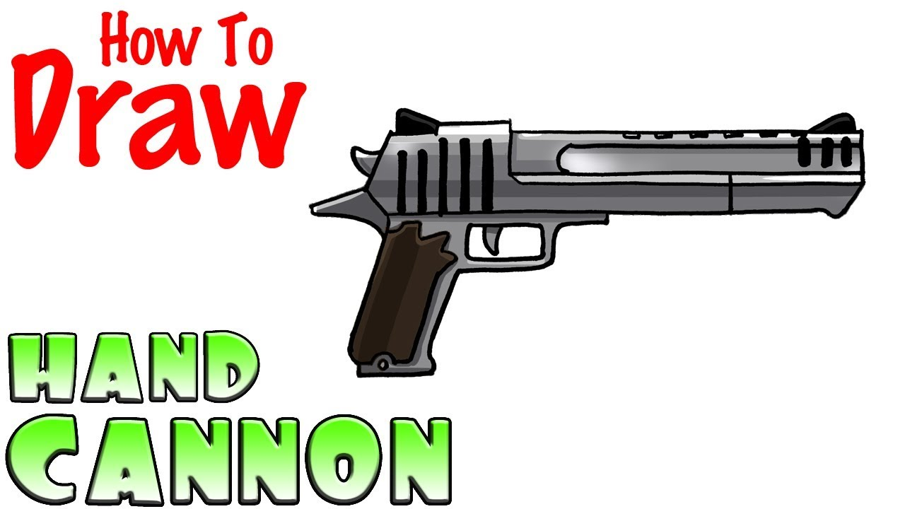 How To Draw The Hand Cannon Deagle Fortnite Youtube