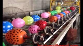 automatic balloon screen printing machine Hawhen machinery