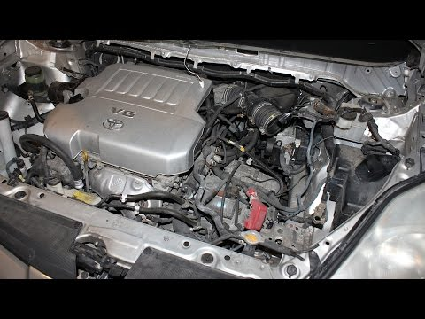 How to replace the starter on Toyota Sienna 3.5L engine (2007 - 2010  Sienna V Engine Diagram on