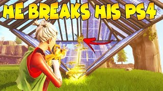 Raging Scammer Breaks His PS4 Over Guns! (Scammer Gets Scammed) Fortnite Save The World