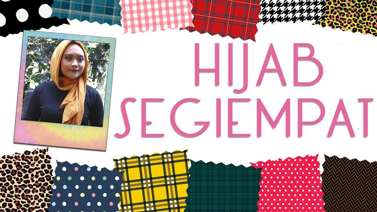 Tutorial Hijab Vemale Hijab Segi Empat Kece Dalam Semenit YouTube