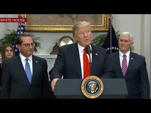 President Trump swears in new HHS Secretary Alex Azar