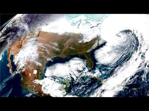 Bomb cyclone seen from space