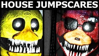 JOLLY 3: Chapter 2 - House Level - All Jumpscares (FNAF Horror Game 2018)